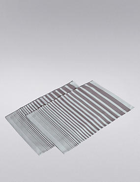 2 Pack Gradient Striped Placemats