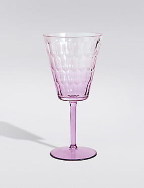 Plastic Spring Bloom Picnic Optic Wine Glass