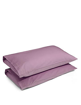 2 Pack Cotton Rich Percale Pillowcase