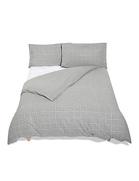 Dawson Check Grey Bedding Set
