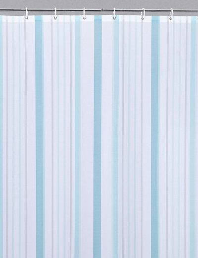 Thin Stripe Nautical Shower Curtain M S