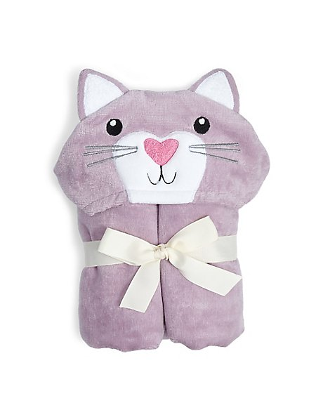 Pure Cotton Kitten Poncho Towels