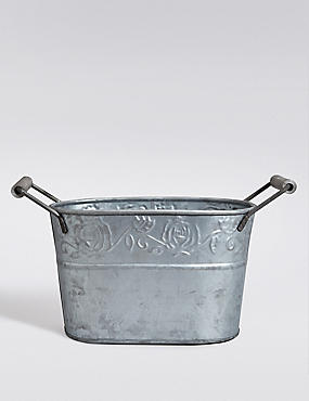 Galvanised Planter