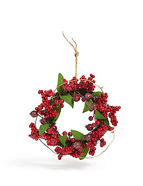 10in Mini Red Berry Wreath