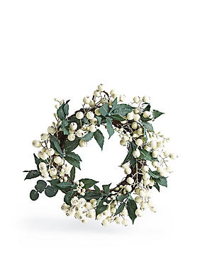 20 inch White Berry Wreath