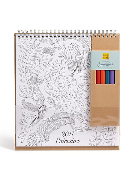 Colouring in Calendar