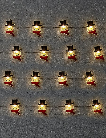 Novelty Snowman Wire Lights
