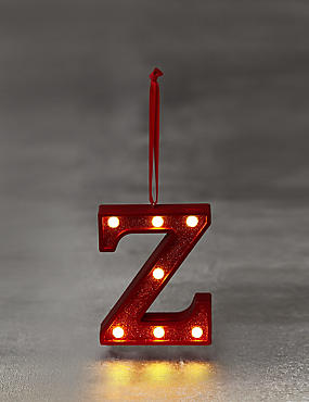 A-Z Individual Red LED Baubles