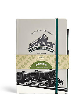 Flying Scotsman Notebook & Pencil