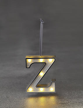 A-Z Individual White LED Baubles