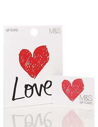 Love Heart Gift Card Giftcard