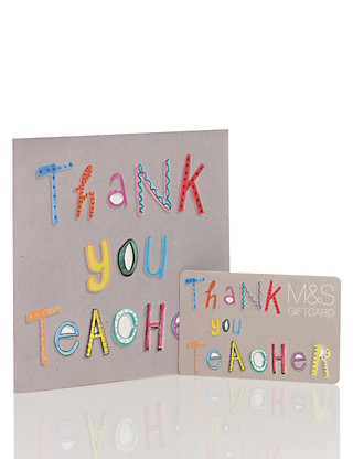 Thank You Teacher Gift Card Giftcard