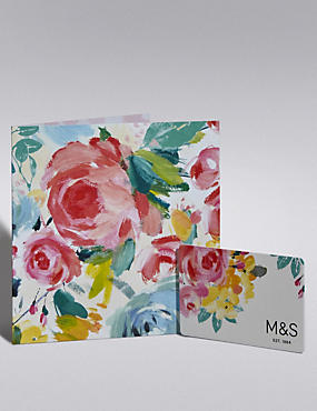 Painted Floral Gift Card