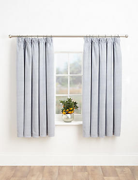 Ticking Stripe Blackout Curtains