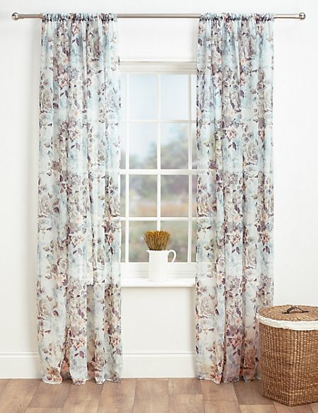 Floral Sheer Voile Panel