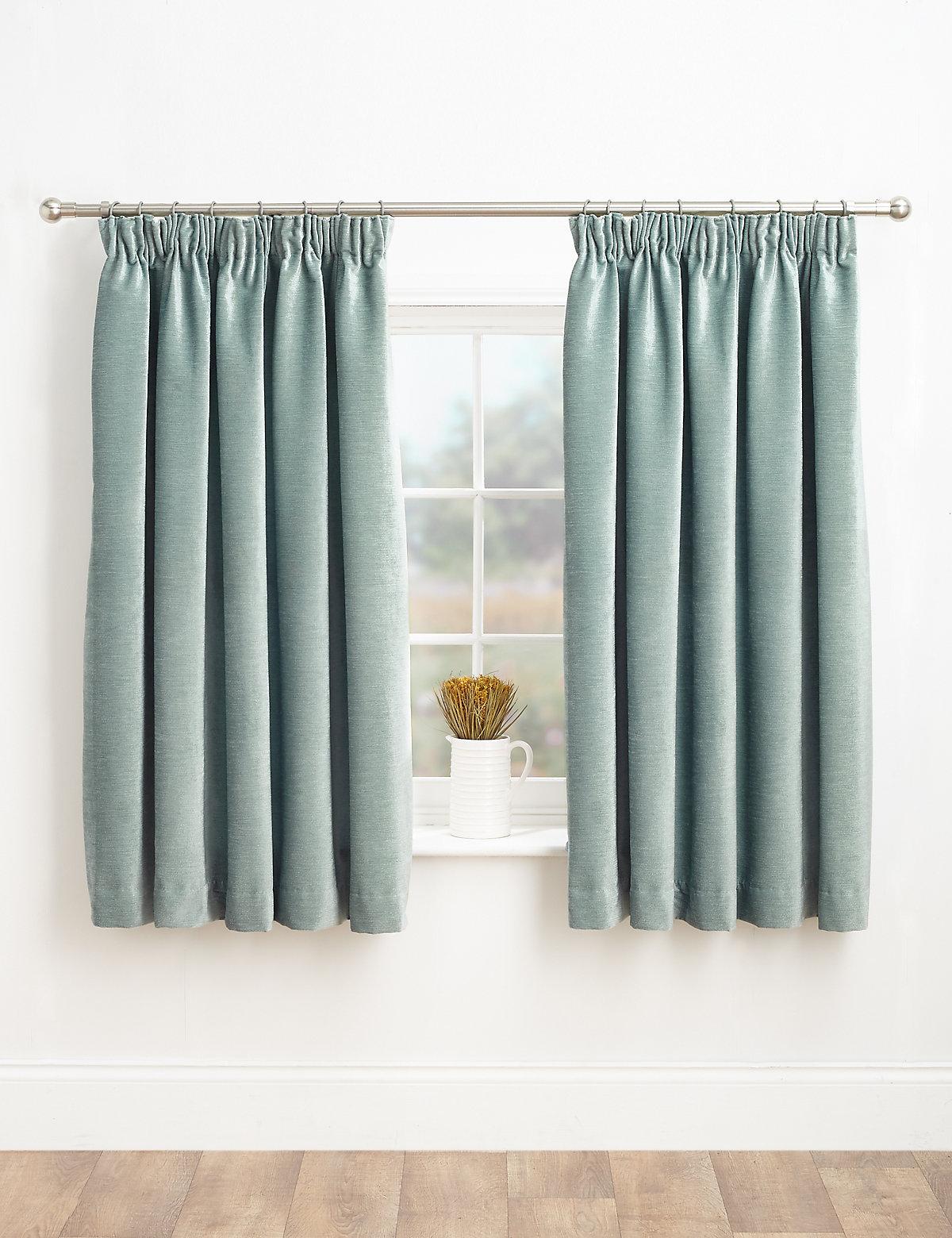 Chenille Pencil Pleat Curtains