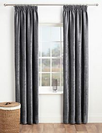 Chenille Pencil Pleat Curtains