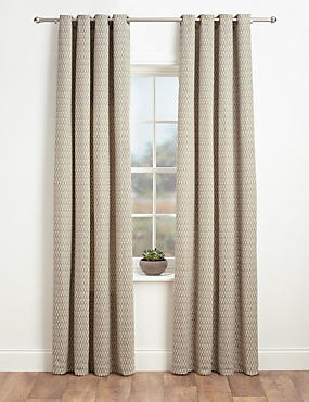 Chenille Dotty Eyelet Curtains