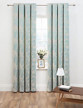floral jacquard curtains