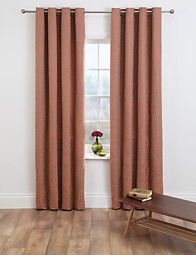 Mythology Jacquard Eyelet Curtains