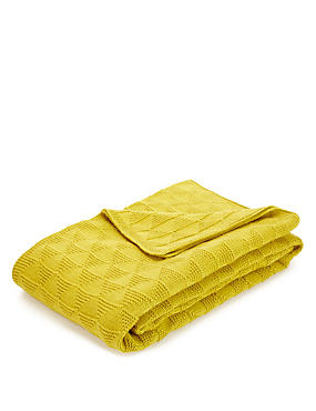 Diamond Knitted Throw