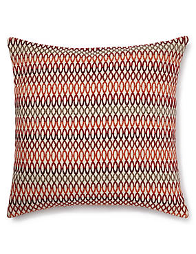 Geo Chenille Cushion