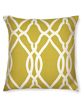 Large Geometric Print Cushion