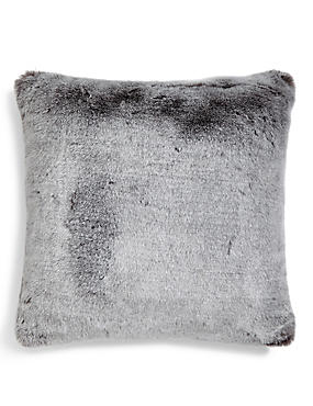 Faux Fur Tipped Cushion