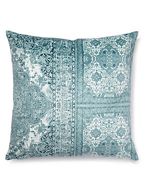 Floral & Tile Print Cushion