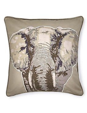 Elephant Appliqué Cushion