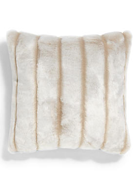 Sheared Stripe Faux Fur Cushion