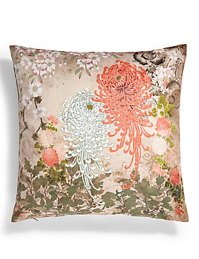 Hana Floral Print Cushion
