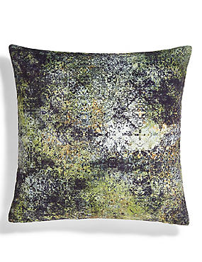 Textured Velvet Tile Print Cushion