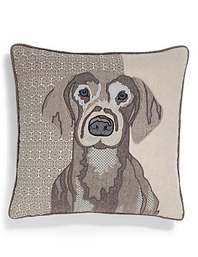 Applique Dog Print Cushion