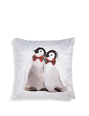 Twin Penguins Cushion