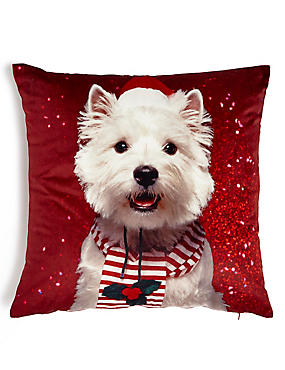 Christmas Westie Cushion