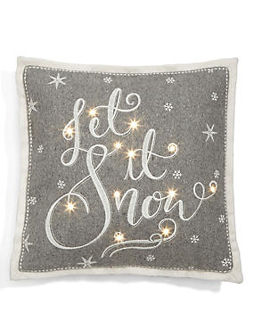 Let it Snow Light Up Cushion