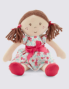 Small Brown Hair Doll (33cm)