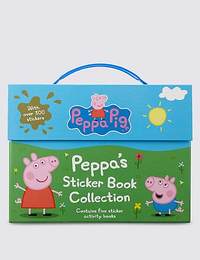 peppa pig sticker collection book m s. Black Bedroom Furniture Sets. Home Design Ideas