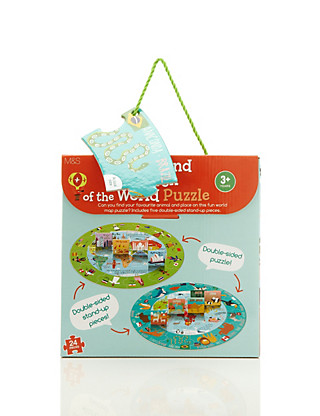 Children & Animals of The World Puzzle Game Home