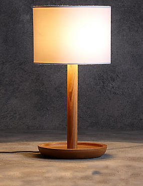 Conran Wooden Dish Table Lamp