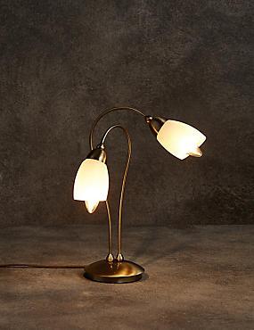 Andrea Table Lamp, ANTIQUE BRASS, catlanding
