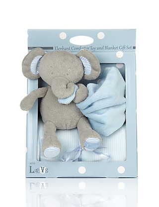 Elephant Comforter Toy & Blanket Gift Set Home