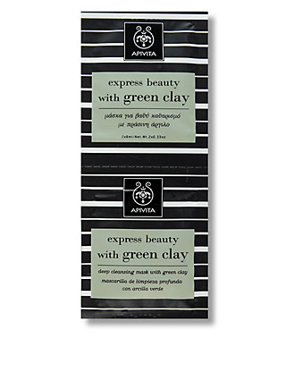 Express Beauty with Green Clay Masks 2 x 8ml Home