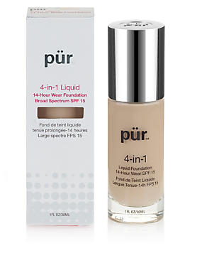 4-in-1 Liquid 14-Hour Wear Foundation 30ml