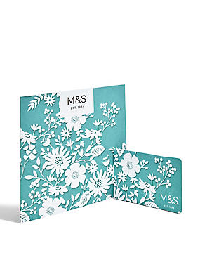 White and Blue Floral Gift Card