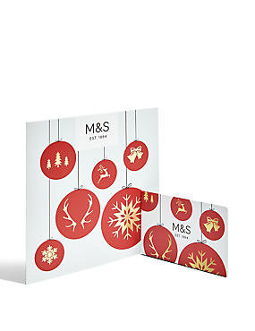 Christmas Bauble Gift Card