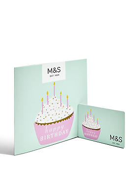 Birthday Cupcake Gift Card