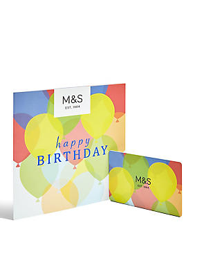 Ballons Happy Birthday Gift Card