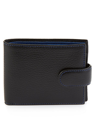 Leather Two Tone Wallet Clothing